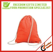 Promotional Custom Canvas Drawstring Shopping Bag