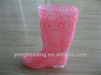 Transparent waterproof pvc jelly rain boots