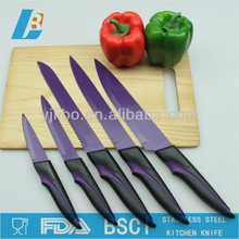 Stainless steel Non-stick coating Kitchen knife with PP&TPR handle