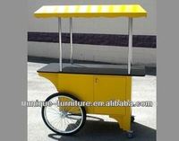 2014 Mobile food cart for sales,food van/street food vending cart for sales,hot dog cart/mobile food trailer with big wheels