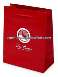 Les Poochs Red China Supply Advertising Paper Bag