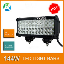 Water Proof Quad Row 14 inch CREE 144W 10080LM offroad 4WD LED Bar Lights