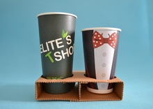 coffee paper cup tray for 4 cup. paper cup holder tray