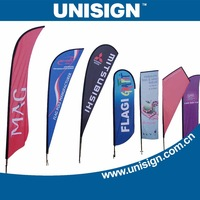 cheap and durable roadside advertising flag and banners