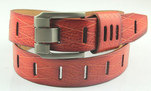fashion men leather belt with eyelets hot selling good quality