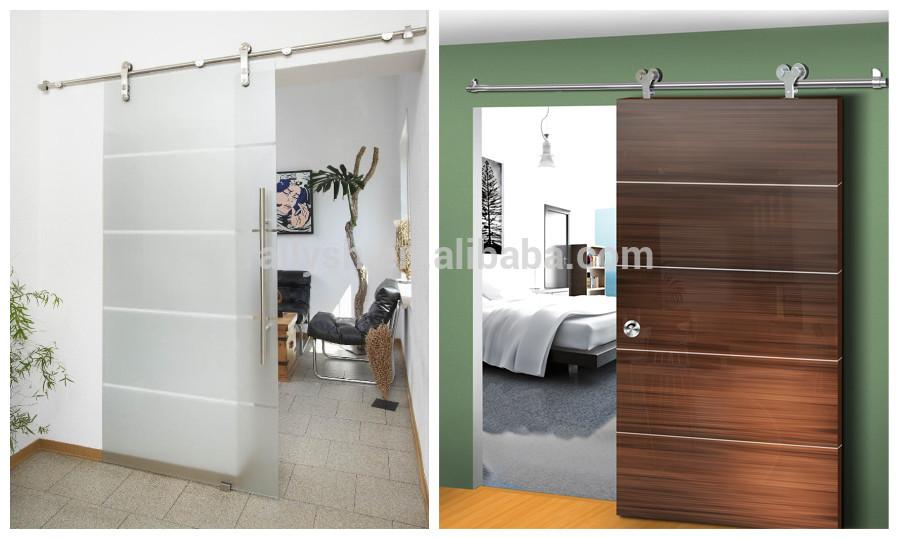 Frameless schuifdeur hardware voor glazen deur houten deur schuur deur deuren product id - Schuifdeur deur ...