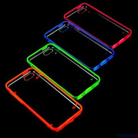 Factory Sell Directly Ultra Slim PC Base Tpu Bumper Luminous Case for iphone5c
