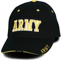 army contrasted stitching safety baseball cap
