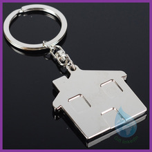 top quality products imitation mini house shaped key chain metal