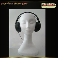 hot selling sports mannequin, foam mannequin polystyrene mannequin head for showing wig or necklace