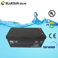 Bluesun cheap price Gel deep cycle battery for solar system