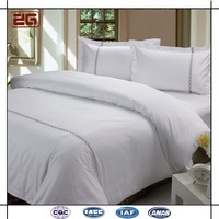 Modern Customized European Plain White 100% Cotton Hotel 400tc Bed Linen