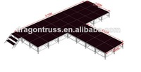 Catwalk adjustable aluminum stage, Aluminum glass stage for fashion show ,