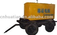 100KW 4 Wheels Trailer Mobile Diesel Generator Set with Silent Canopy