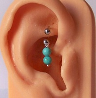 BH012 surgical steel ball ends piercing cartilage earring jewelry