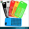 china supplier circle dot silicon case for iphone 5c