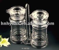 acrylic shaker set for oil and salt