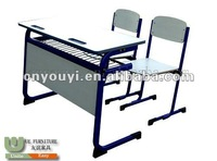 Double School Desk And Chair