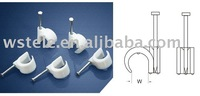Coaxial cable clips