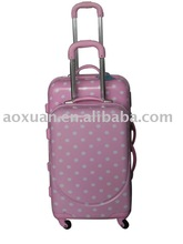 printing round dot PC hard trolley luggage from alibab china supplier shanghai factory