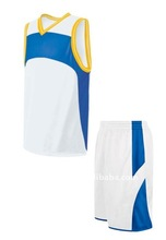 2012 newest top style of USA style of men custom polyester basketball top and basketball shorts