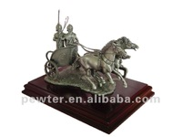 2013 new product knight soldier on war chariot figurine