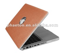 Leather Macbook Cover Case laptop protector for macbook 15.4