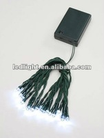 small Battery Operated Mini Lights Clear and Green and Black copper Wire