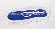 HQ6011-B blue color cleaning cotton flat mop cloth wide-swath floor mop refill