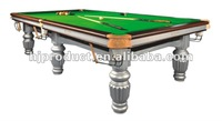 Custom Standard Slate Bed Carved Leg Snooker Table