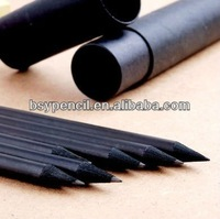 HB black wooden pencil with diamond