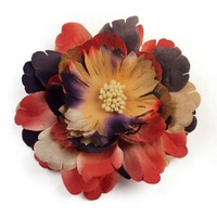 fashion assorted sequin flower hair clip