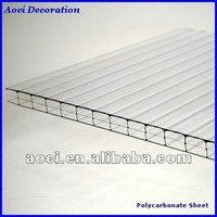clear plastic roofing panels triple wall polycarbonate hollow sheet