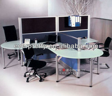 Cheap Melamine Office Cluster Desk,Laminated Wooden Office Furniture