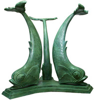 table base Bronze fish sculptures for sale