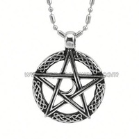 New fashion five-pointed star celtic pendant charms wholesale pentagram pendant