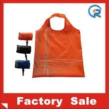 Wholesale type 190t polyester shopping bag/foldable shopping bag