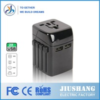 220v to 110v with UK EU AU US swiss Overload Protect Socket Multi-function adapter plug