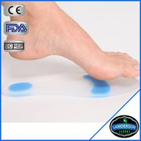 Medical Soft Blue Dot Breathable Footcare Silicone Gel