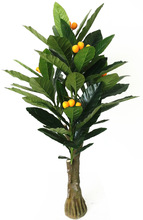 good quality artificial yongyue No.3 loquat tree 175CM height 72 leaves 25 fruits model 0582