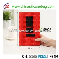 DIY round and square blocks silicone book cover,soft book cover of factory price