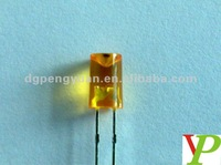 5mm yellow diffused diodes flat top led