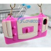 Protable Hand Bag Soft Silicone Skin Front and Back Cover Case for iPhone 4 4S