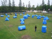 Exciting paintball bunker package for competition; bunker field