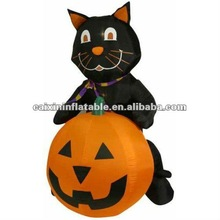 2012 popular infaltable black cat for halloween/ halloween black cat/ halloween gifts