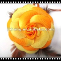 Fashion Feather Rose Flower hair accessory