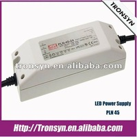 Meanwell LED Driver/Meanwell Power Supply PLN-45 45W Waterproof LED Driver With PFC Function