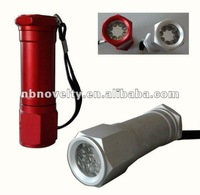 9LED aluminium torch