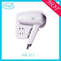 Hotel bathroom wall mounting hair dryer with socket shaver