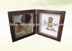 Baby type resin picture frames - double windows